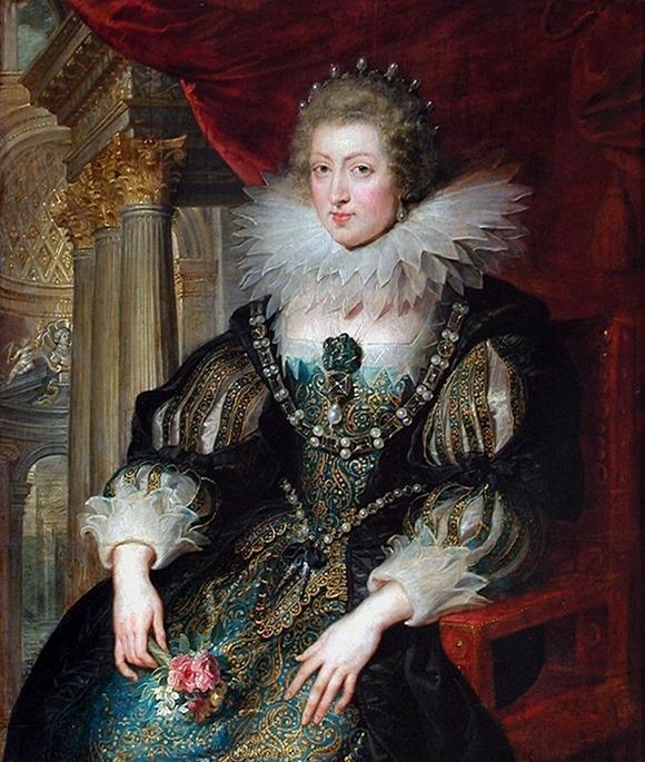 Anna d'Austria, ritratta da Pieter Paul Rubens, sorella di Felipe IV, sposa di Louis XIII Re di Francia