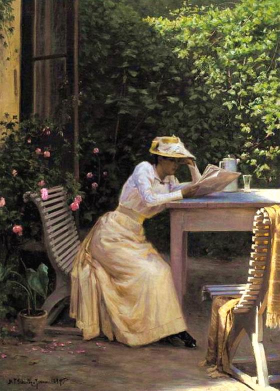 niels-jensen-reading_lady-in-garden